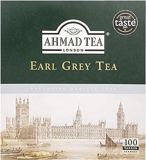 Ahmad Tea Earl Grey Schwarzer Tee 100 Teebeutel mit Band/Tagged, 200 g
