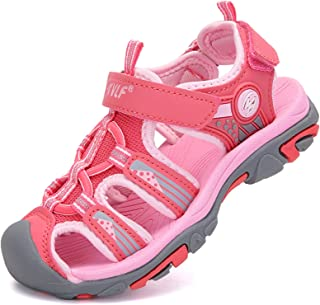 DADAWEN Boy's Girl's Outdoor Athletic Strap Breathable Closed-Toe Water Sandals (Toddler/Little Kid/Big Kid)