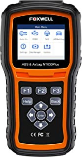 FOXWELL NT630 Plus OBD2 Scanner SRS Code Reader Automotive OBD II ABS Airbag Diagnostic and Active Test Scan Tool(Enhanced 2019 Version)