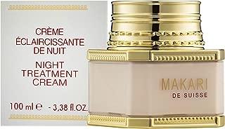 Makari Classic Night Treatment Skin FACE Cream 3.38 fl.oz– Moisturizing, Lightening & Brightening Face Cream –Regulating Nighttime Regimen for Dark Marks, Scars, Blemishes, Hyperpigmentation & Dryness