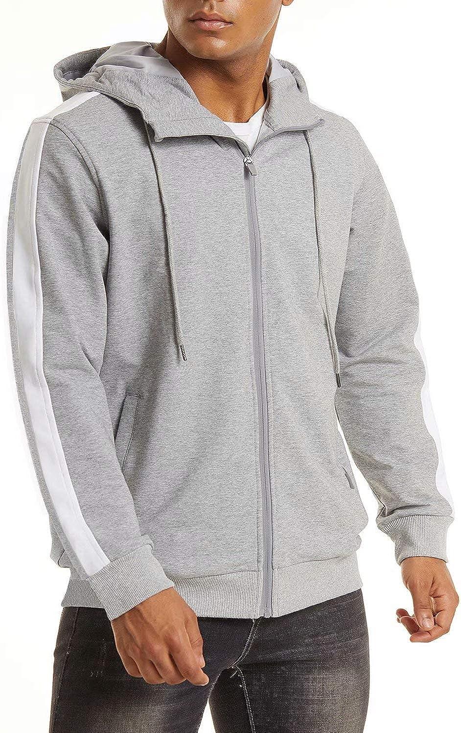 MAGCOMSEN Men's Hoodie Full Zip Fall Cotton Sweatshirts Philadelphia Mall Manufacturer regenerated product Spring J
