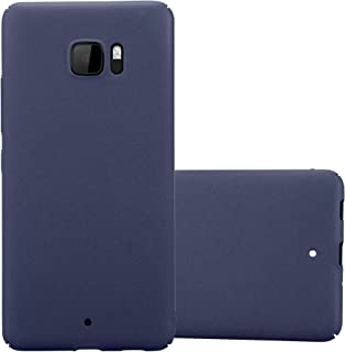 Cadorabo Case Works with HTC U Ultra in Frosty Blue – Shockproof and Scratch Resistent Plastic Hard Cover – Ultra Slim Protective Shell Bumper Back Skin