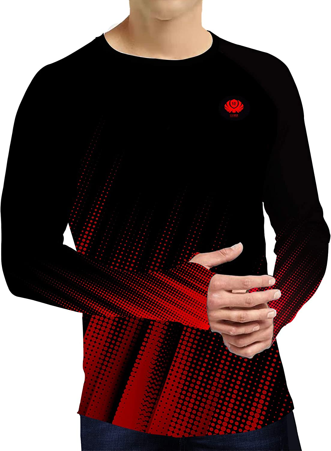voofly Men's Long Sleeve Now on sale T-Shirt Protection Shirts Hiking Sun Boston Mall UP