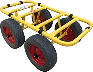 Ravendo Dolly Plaatwagen, transportwagen, 4 wielen, 300 kg, zware lasten, vrachtwagen, transportwagen, lekvrij, made in Eu...