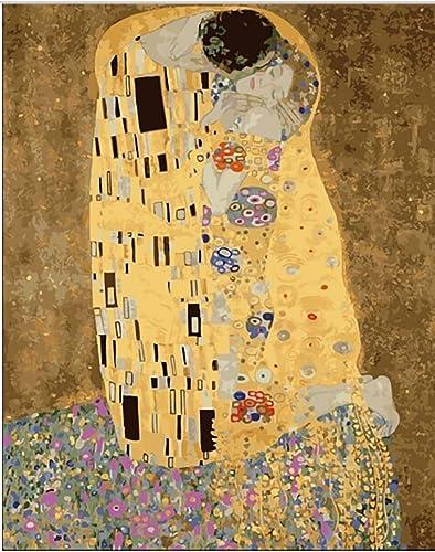 compra limitada KYKDY HASYOU Klimt & Kiss Kiss Kiss - Cuadro abstracto pintura al óleo cuadros decoracion cuadro pintura por números en lienzo Cuadros modulares, 60x75cm sin marco  elige tu favorito