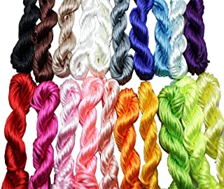 New 20bundles 200Yards 2.5mm Satin/Rattail Silk Cord for Necklace Bracelet Beading Cord
