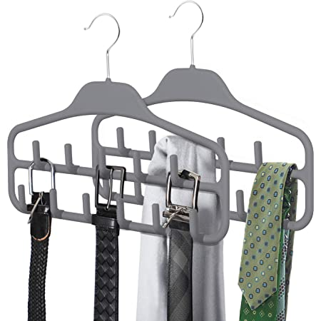 WEIHEEE Belt Hangers Belt Rack Ties Hangers Closet Organization Storage Holder Non-Slip Closet Organizer Hangers Hook Rack for Belt Tank Tops Scarves,Golden