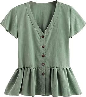 Best ruffle v neck blouse Reviews
