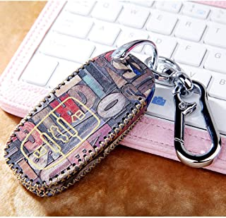Colorful car Key Cover Fob Shell For Audi Accessories A1 A3 A4 A5 A6 A7 A8 Quattro Q3 Q5 Q7 2009 - 2015 key chain bag(Model A)