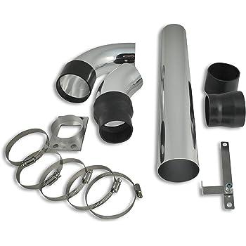 Goeco Kit de Filtres /à Air pour Moteur de Tube en Aluminium dadmission /à Froid de Turbine Universelle pour Voiture