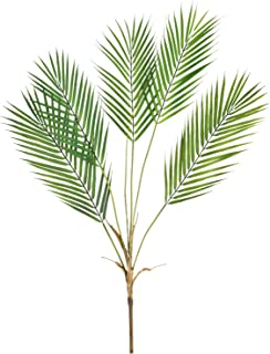 SunmBoutique Artificial Palm Leaves, Single Leaf Palm Fronds Faux Artificial Plant Tropical Palm Leaves Faux Monstera Leaves for Home Kitchen Party Decor (Green,32.6