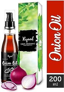 Ryaal Hair Food Onion Hair Oil - Nourishing Hair Fall Treatment with 100% Real Onion Extract, Argan Oil, Jojoba Oil, Shea Butter, Mango Butter - Intensive Hair Fall Dandruff Treatment (6.76 fluid oz)