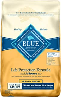 Blue Buffalo Life Protection Formula Healthy Weight Small Breed Dog Food – Natural Dry Dog Food for Adult Dogs – Chicken and Brown Rice – 15 lb. Bag