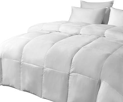 kathy ireland Ultra Soft Nano Touch Light Warmth Duraloft Down Alternative Comforters, Full/Queen, White