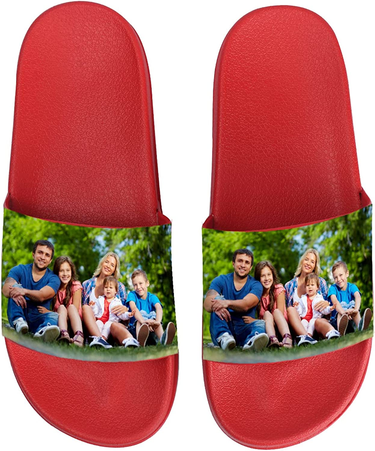 Personalized Slides Sandals with Your Photo/Text, Beach Casual C