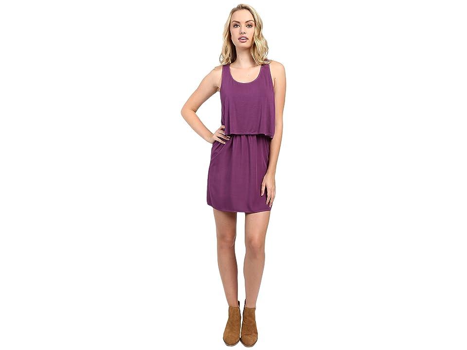 Splendid Rayon Voile and Jersey Dress (Grape) Women