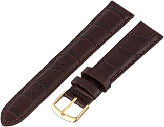 Men's 18mm Leather Watch Strap, Color:Brown (Model: MSM835RB-180)