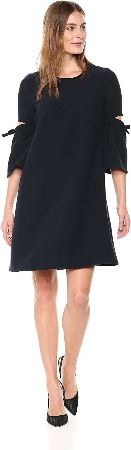 Ellen Tracy Womens A Line Dress with Cut Out Sleeve Dress