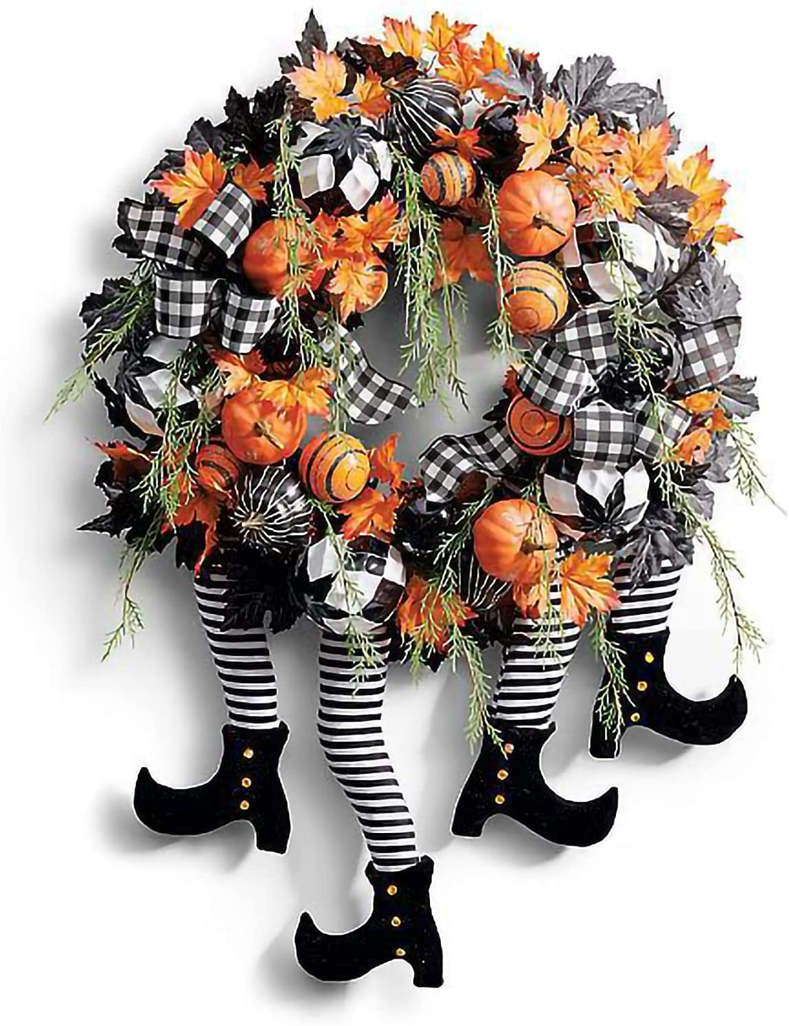 Dealing full price reduction 24 Inch Witch Directly managed store Halloween Wreath Pumpkin Ar Door Legs with