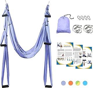 Leogreen Yoga Swing, Anti-Gravity Yoga Sling Hammock for Aerial Yoga Inversion Tool with 2 Daisy Chain