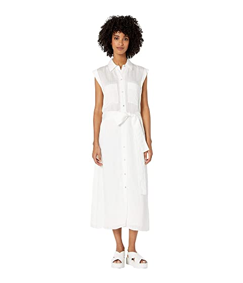 Vince Rolled Sleeve Shirtdress