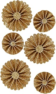 Gold glitzernd ALOHA Gruene Blaetter Garland und Gold Glittery Kreis-Punkt 2X 2X