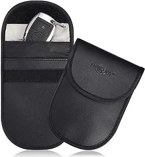 Faraday Cage Shield Car Key Fob Signal Blocking Pouch Bag, Faraday Bag Rfid Key Fob, Fob Guard Keyless Entry Remote Rfid, Antitheft Lock Devices, Car Key Protector WIFI/GSM/LTE/NFC/RF Blocker (2 Pack)