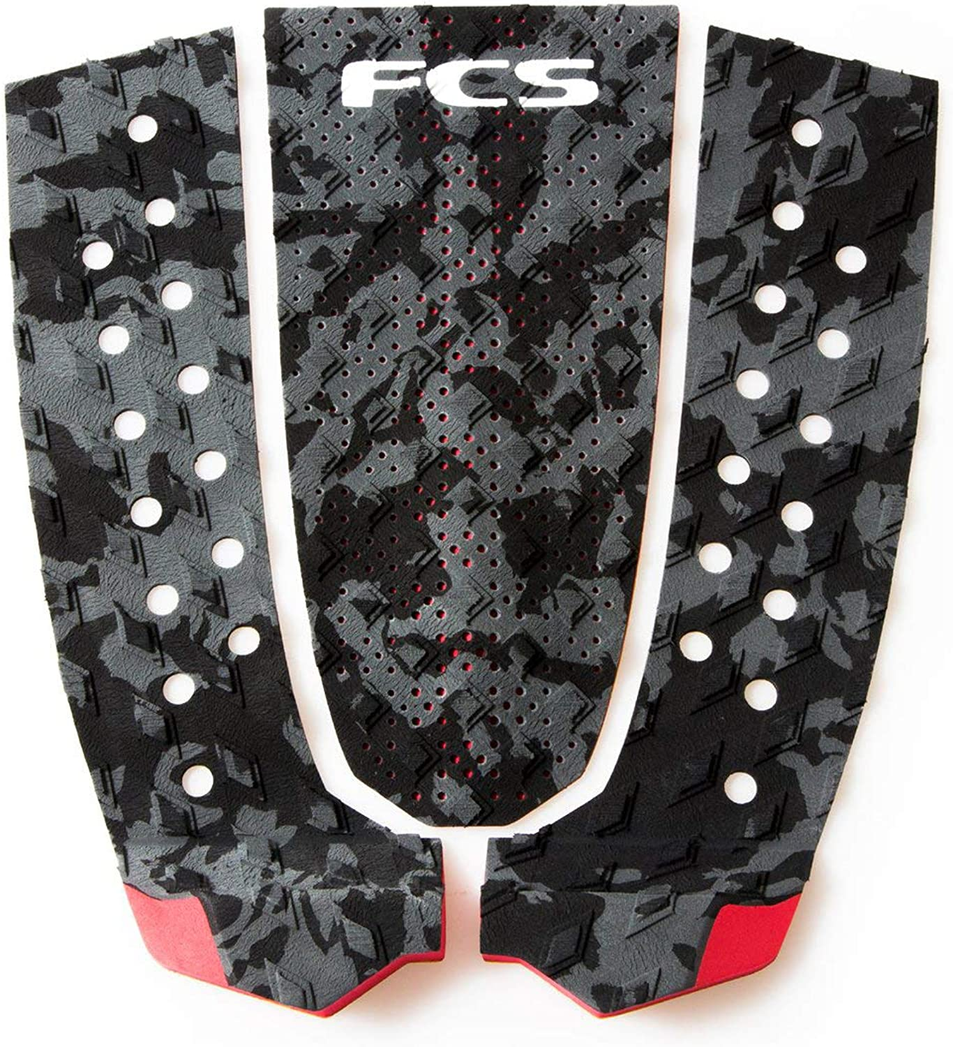 FCS Surfboard Traction Pad Essential Series T3 (Charcoal Camo, OS)