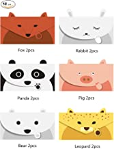 JINSRAY Cute Lovely Animal Cartoon Design Letter Writing Stationery Paper, Greeting Card, Invitation Card, Thank You Card, Size 6.3