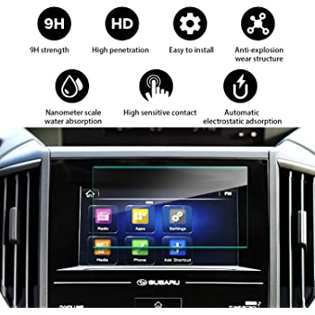 9H Hardness LFOTPP 2019 Subaru Ascent Starlink 8-Inch Car Navigation Screen Protector, Tempered Glass Infotainment Center Touch Display Screen Protector Anti Scratch High Clarity LiFan