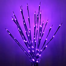 Aokely 4PACK Branch Lights LED Branches Decorative Light Battery Powered DIY Tree Willow Branches Lamp for Home Holiday Party Decor Purple -30Inch 20LEDs