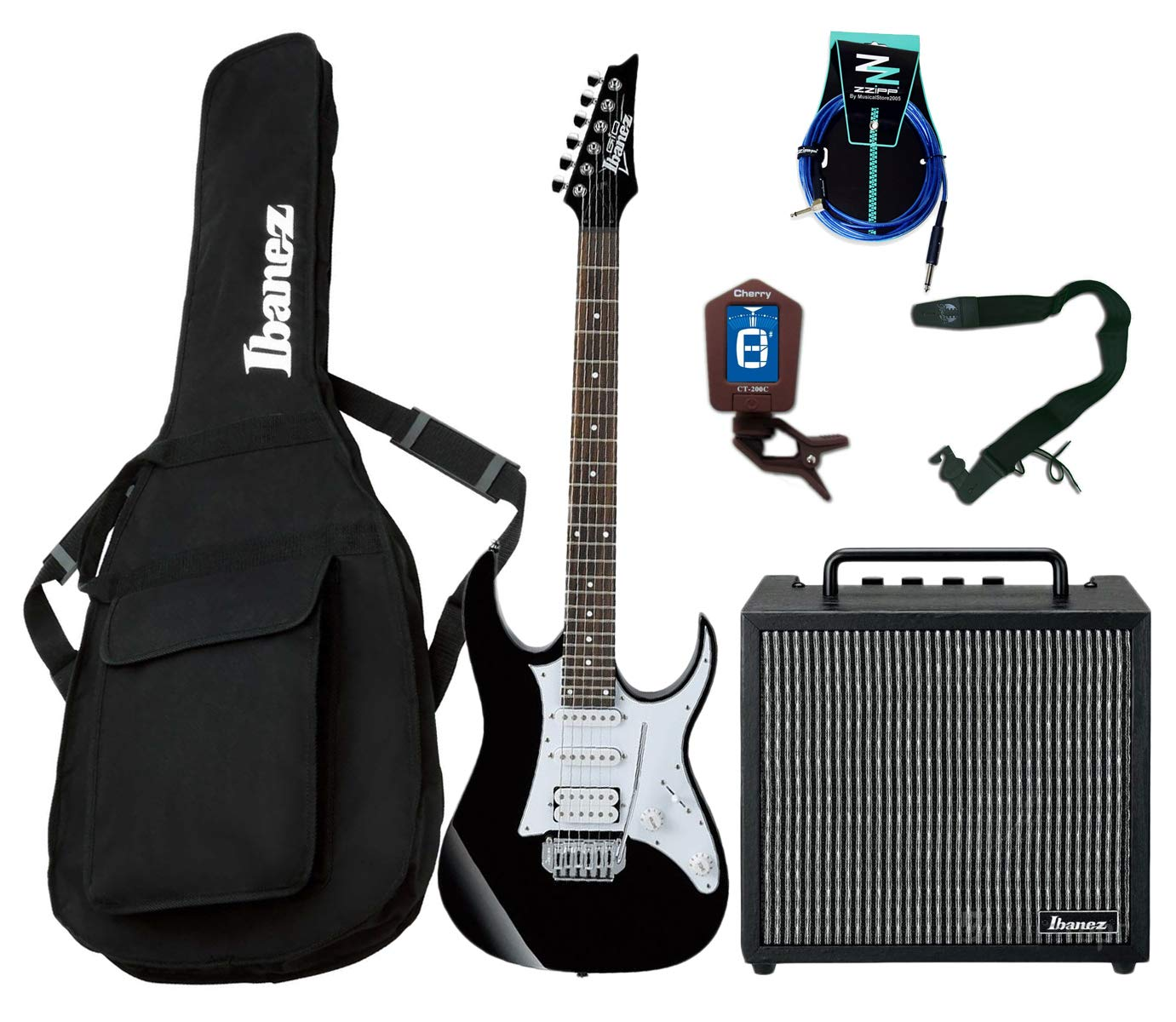 Guitar Starter Pack Ibanez Guitarra Eléctrica Entry Level/Combo 10 W/accesorios: Amazon.es: Instrumentos musicales