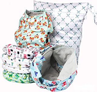 Simple Being Reusable Cloth Diapers, Double Gusset, One Size Adjustable, Washable Soft Absorbent, Waterproof Cover, Eco-Fr...