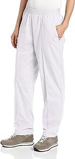 Landau Women's Comfortable 2-Pocket Classic Fit Medical Scrub Pant Uniform, White, X-Small Petite