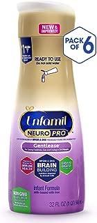 Enfamil NeuroPro Gentlease Baby Ready to Feed Milk Formula, 32 Fluid Ounce (6 Count), Omega 3 DHA, Probiotics, Iron