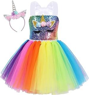 لباس MetaCuento پری دریایی برای دختران لباس رنگین کمان Tutu جشن تولد هالووین لباس لباس کریسمس پیشانی بند