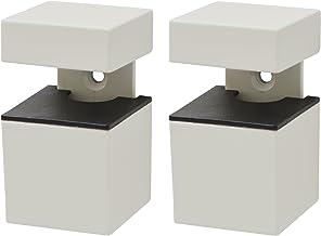 Duraline Kubus Matte plankdrager, metaal, wit, 12 x 4,3 x 17 cm, 2 stuks