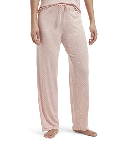 HUE Plus Size Solid Long PJ Pants with Temp Tech (Calming Rose) Women