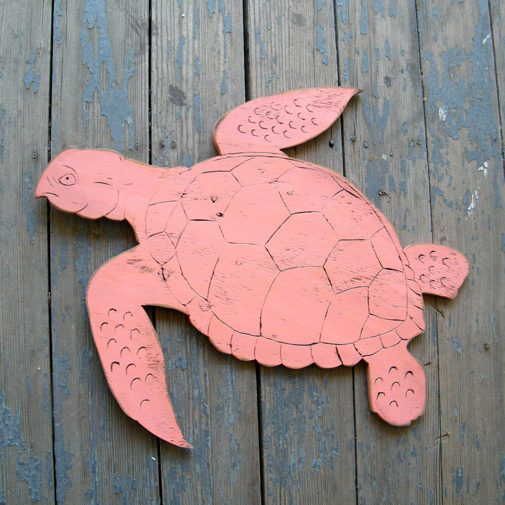 Animer and price revision Sea Turtle Wooden Wall Decor Art Ocean Beach New product! New type
