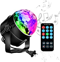 Disco Ball LED Party Lights-TTF Sound Activated LED RGB Strobe Light 7 Color Modes Party Supplies for Halloween Dance Party DJ Club Karaoke Decoration