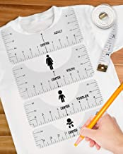T-Shirt Alignment Rulers Tshirt Ruler Guide for Vinyl Tshirt Alignment Tool andT Shirt Placement Guide for Infant Toddler Youth Adult 4 Pcs T-Shirt Ruler Tshirt Centering Ruler for Heat Press
