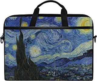 AHOMY Van Gogh Starry Night Over The Rhone Messenger Bag Small Travel School Sling Bag Crossbody Bag