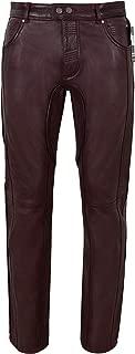 Men's Leather Pant Cherry Stylish Fashion Soft Designer Slim Fit Trousers 4669