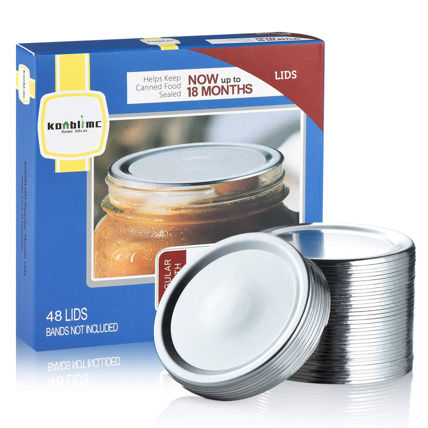 Kerr Regular Mouth Canning Jar Bands and Lids Unused . 4 Bands and 13 Lids