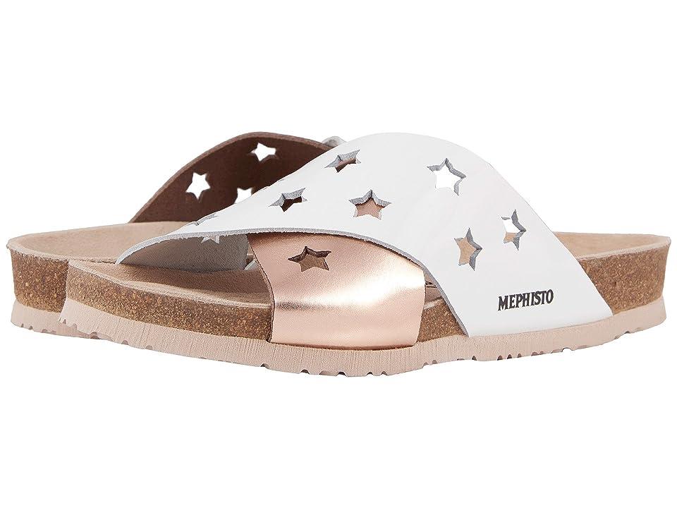 Mephisto Nanou Star (White Patent/Old Pink Star) Women