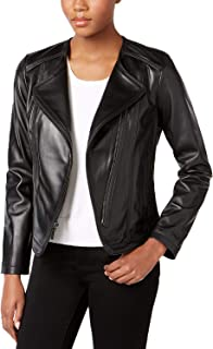 MICHAEL Michael Kors Women's Black Leather Jacket (L)