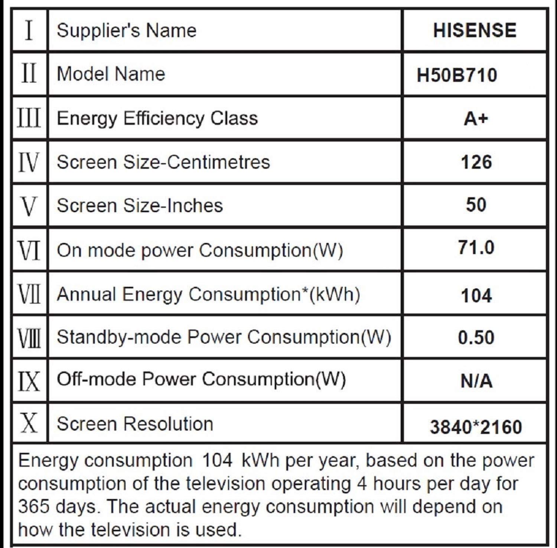 Hisense H50B710 Televisor 50