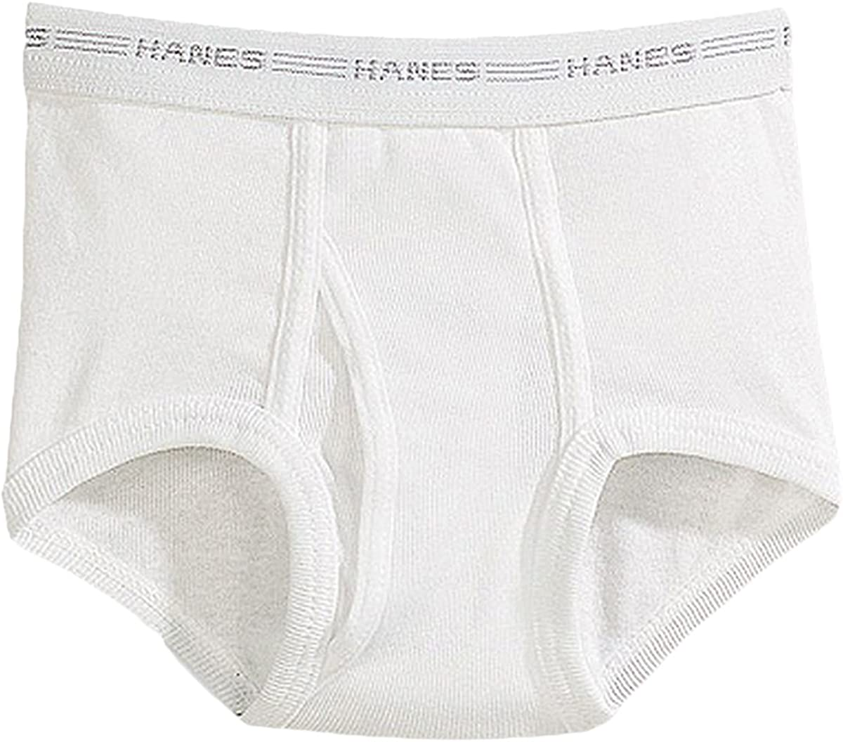 Hanes Boys White Briefs Value 6-Pack_White_X-Small