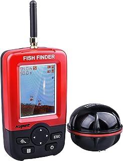 Kupet Sonar para Pesca, Sondas de Pesca Inalámbricos Electrónicos con Pantalla LED Colorida