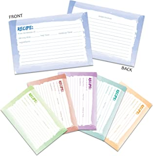 Recipe Cards - 60-Pack Blank Recipe Cards, Double-Sided, Watercolor Design, Perfect for Wedding, Bridal Shower, and Special Occasion, 4 x 6 Inches